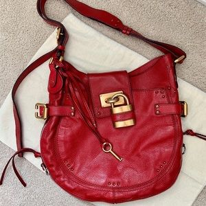 Chloe Paddington Red Saddle Bag